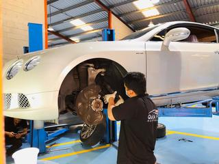 Servicing Bentley At Best Bentley Workshop In Al Quoz Dubai
