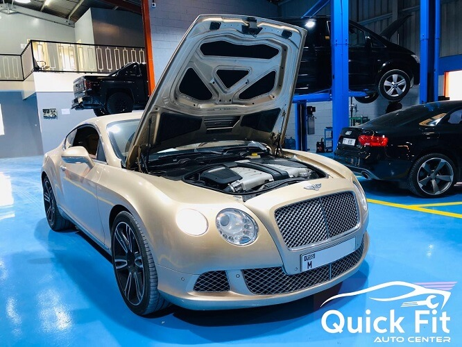 Servicing Air Conditioner For Bentley At Our New Workshop