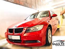 خدمة بي إم دبليو في مركز كويك فيت للسيارات في دبي مع غسيل سيارات مجاني
