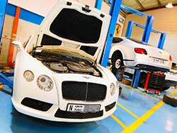 Bentley GT Speed Getting Major Service At Quick Fit