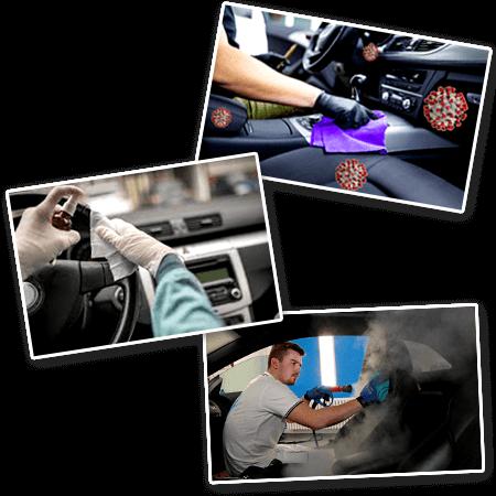 Car interior and exterior disinfection service dubai