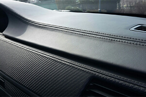 Car upholstery and dashboard leather