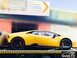 Aventador Is Here For Accident Repair At Quick Fit Auto Center