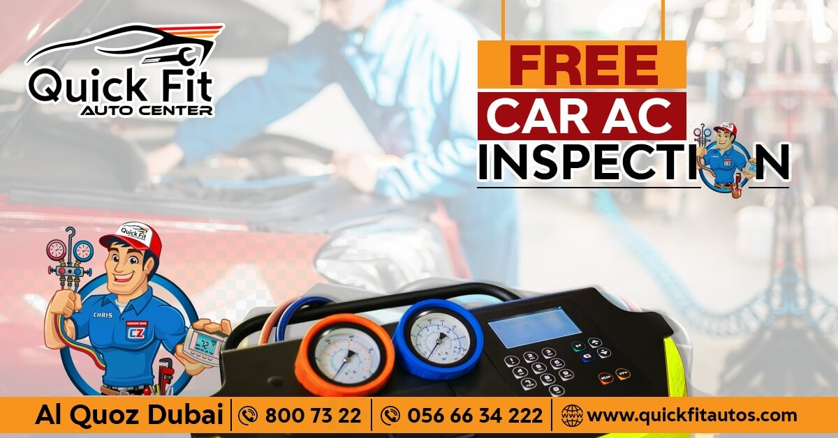 Free Car AC Inspection Service at Quick Fit Auto Center - Why You Are Waiting When its Free? Let Your AC Bombard Chilled Air Once Again