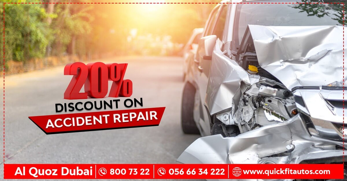 Either its about Minor Touch up or a Major Accident Repair Service -  Don't Miss 20% OFF at Quick Fit Auto Center