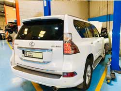 Lexus Visited Quick Fit for Complete Inspection in Dubai