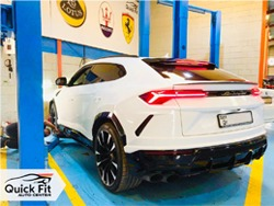Lamborghini Urus 2019 Oil Change Service At Quick Fit In Dubai