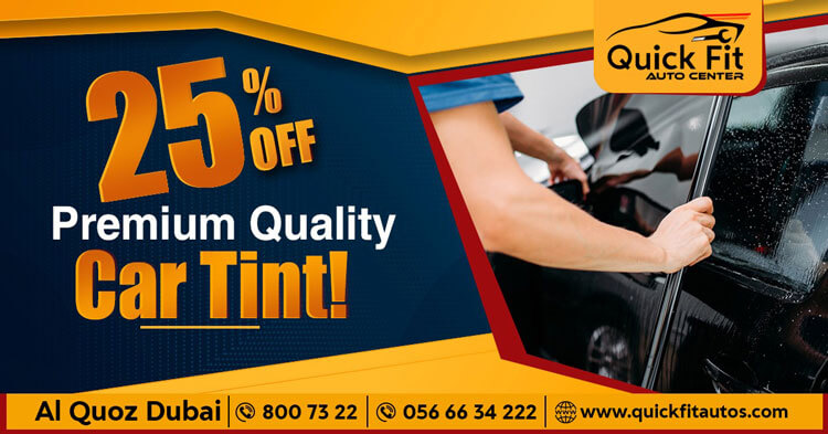 25 % OFF on Premium Quality Car Tinting Services in Dubai