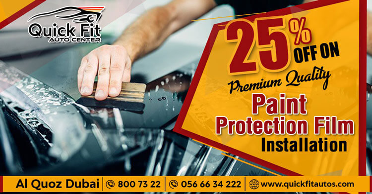 25 % OFF on Premium Quality Car Paint Protection Film Installation in Dubai