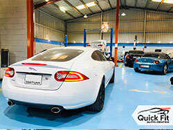 Jaguar XK Oil Leak Issue Fixed at Quick Fit Auto Center