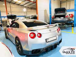 Nissan GTR Major Servicing At Quick Fit Auto Center.