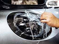 Applying Paint Protection Film At Quick Fit Auto Center
