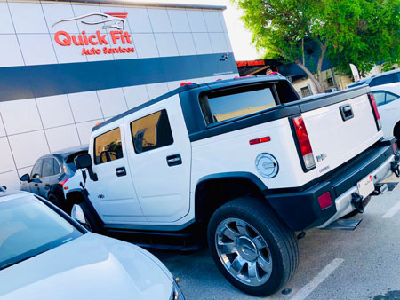 Hummer h3 Visited for Autobody and Steering Service in Dubai