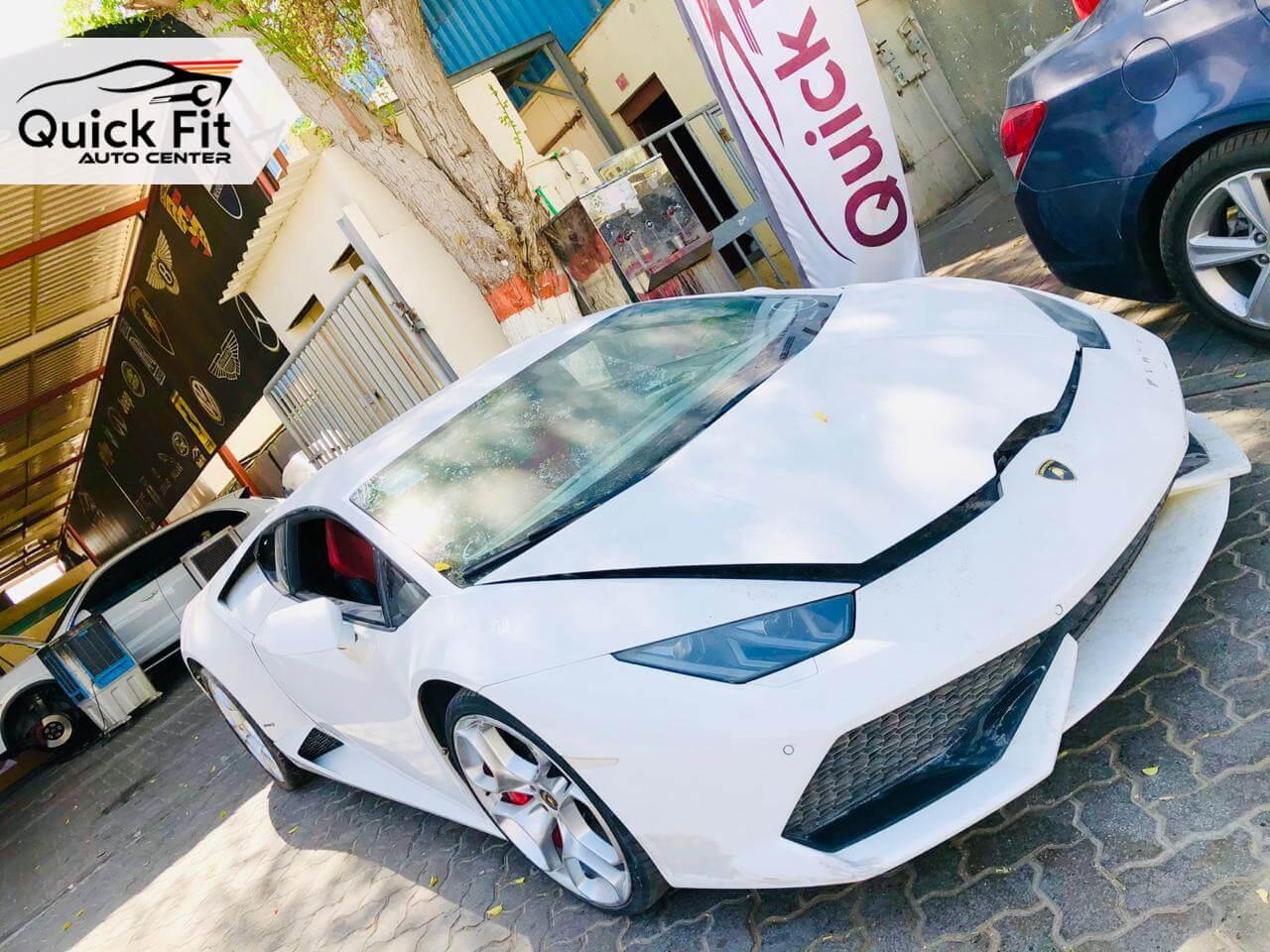Lamborghini Huracan Accident Repair and Restoration in Dubai