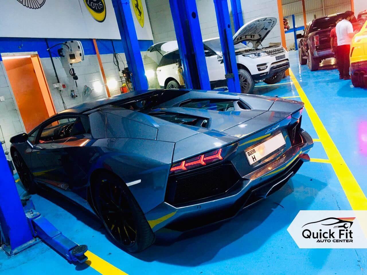 Lamborghini Aventador Minor Service at Quick Fit Auto Center
