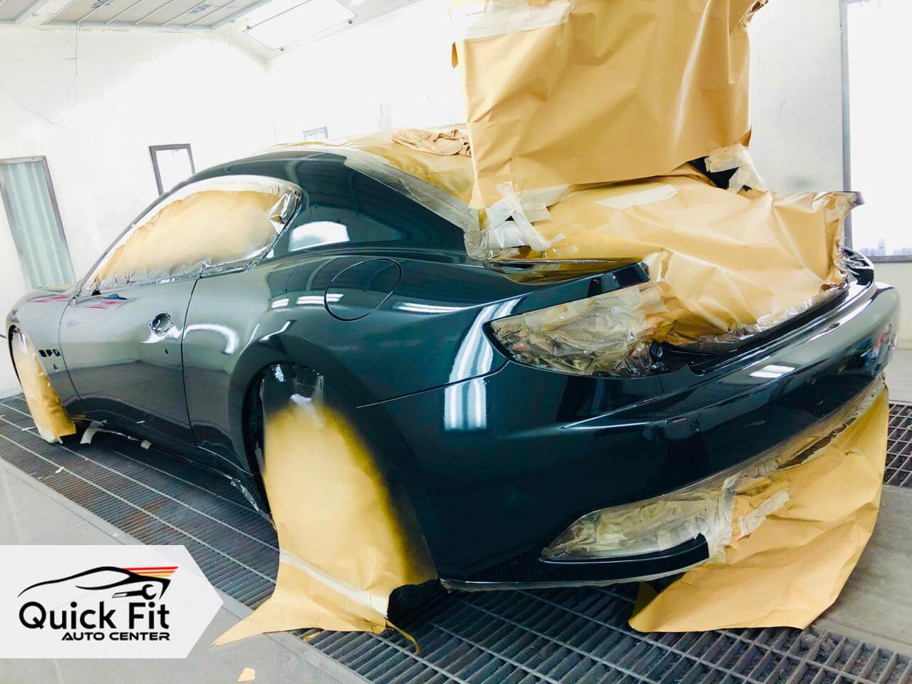 Auto Body Service is going on after complete Car Maintenance in Dubai