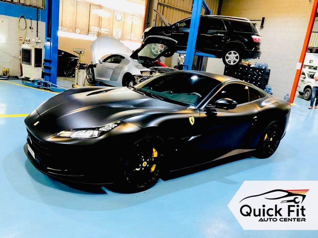 Ferrari Mechanical Repair Service in going on at Quick Fit Auto Center