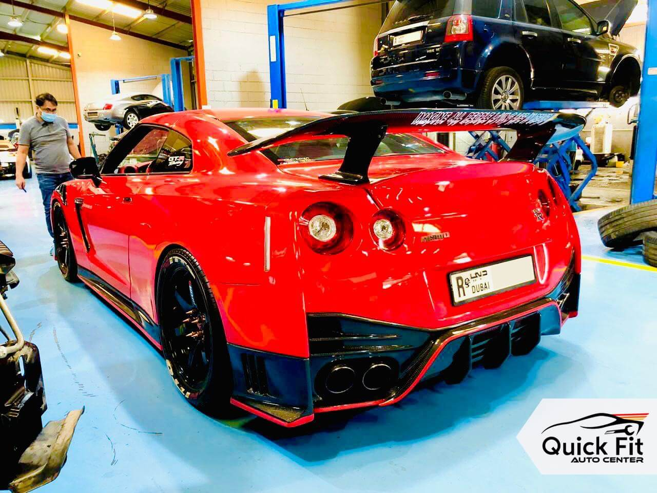 Red GTR is ready for Free Computerized Inspection in Dubai