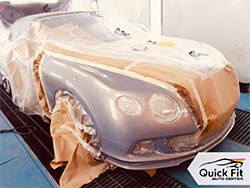 Bentley Body Repair and Complete Painting At Quick Fit Auto Center