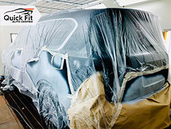 Nissan Patrol Complete Repainting At Quick Fit Auto Body Shop In Dubai