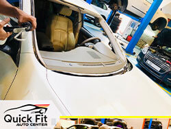 Replacing Windscreen For Lexus At Quick Fit Auto Service Dubai