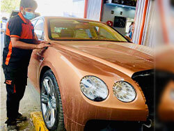 Bentley Scratch Repair And Paint Restoration At Quick Fit Dubai
