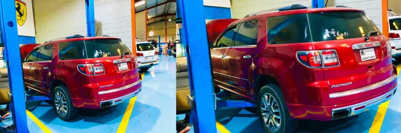 Range Rover Acadia major Service Banner