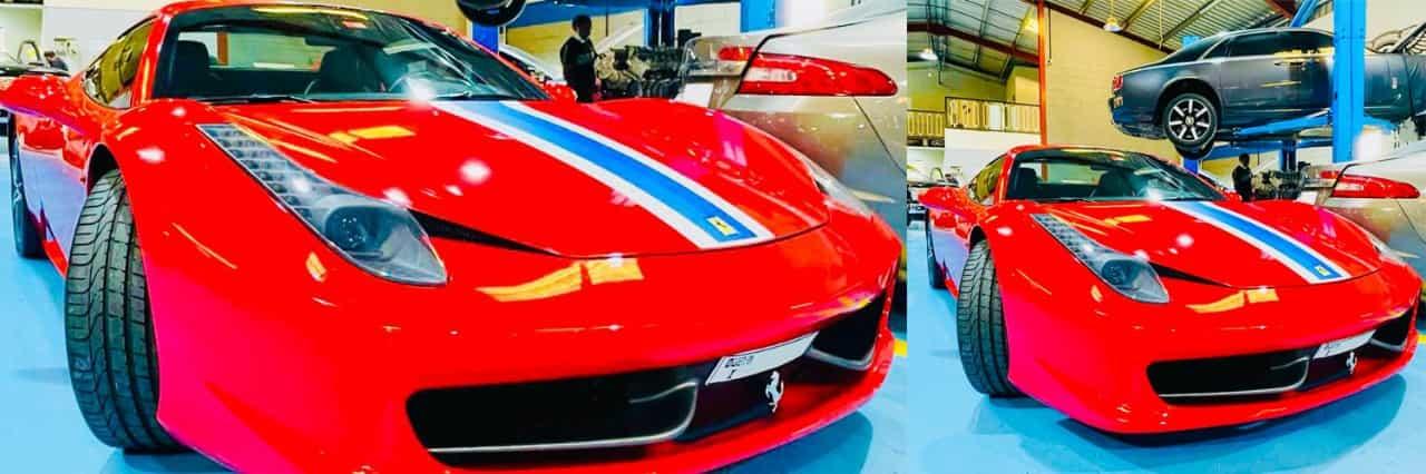 Ferrari 458 spider Banner