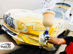 Mercedes-Benz AMG Painting Service at Quick Fit