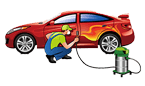 Scratch removal, Car color change, Bumper repaint and complete auto body painting service in Dubai
